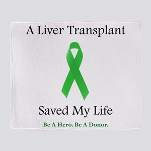 Liver Transplant Survivor Throw Blanket